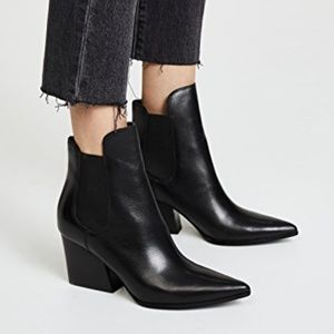 Kendall + Kylie Finley Leather Booties Point Toe